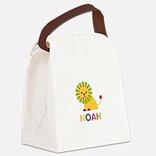 Noah Loves Lions Canvas Lunch Bag