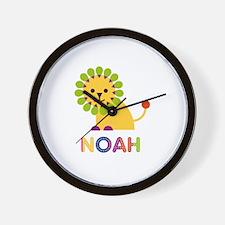 Noah Loves Lions Wall Clock