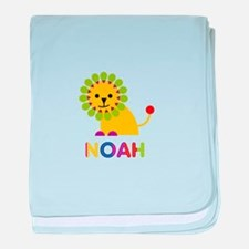 Noah Loves Lions baby blanket