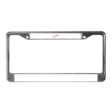 SHELLY License Plate Frame