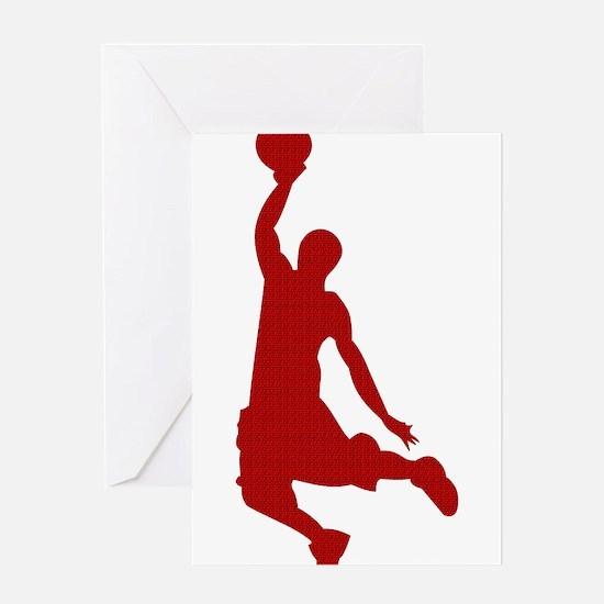 Basketball player Slam Dunk Silhouette Greeting Ca