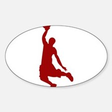 Basketball player Slam Dunk Silhouette Decal