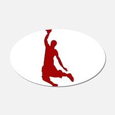 Basketball player Slam Dunk Silhouette Wall Decal