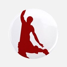 "Basketball player Slam Dunk Silhouette 3.5"" Button"