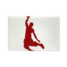 Basketball player Slam Dunk Silhouette Rectangle M