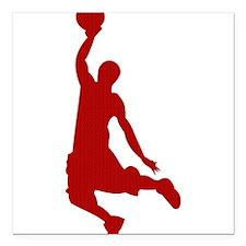 Basketball player Slam Dunk Silhouette Square Car