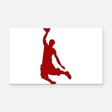 Basketball player Slam Dunk Silhouette Rectangle C
