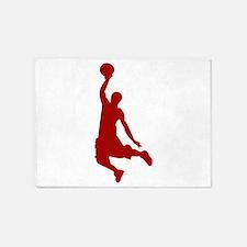 Basketball player Slam Dunk Silhouette 5'x7'Area R