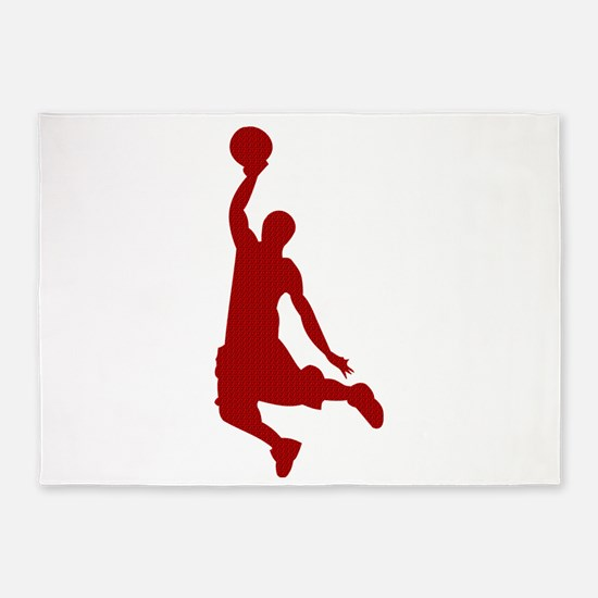 Basketball player Slam Dunk Silhouette 5'x7'Area R