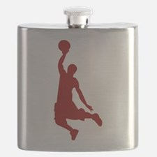 Basketball player Slam Dunk Silhouette Flask