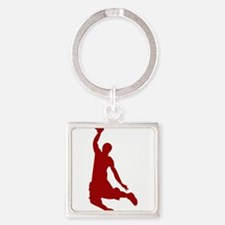 Basketball player Slam Dunk Silhouette Keychains