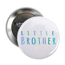 """Little Brother in blue 2.25"""" Button"""