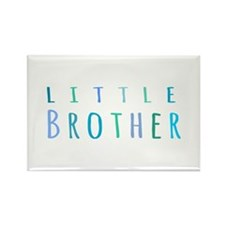 Little Brother in blue Rectangle Magnet