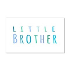 Little Brother in blue Car Magnet 20 x 12