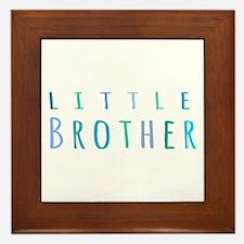 Little Brother in blue Framed Tile