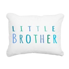 Little Brother in blue Rectangular Canvas Pillow