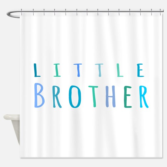 Little Brother in blue Shower Curtain