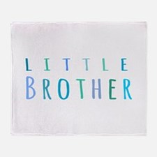 Little Brother in blue Throw Blanket