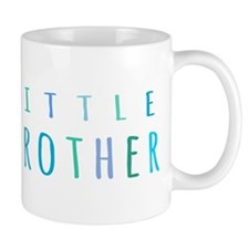 Little Brother in blue Small Small Mugs