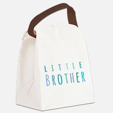Little Brother in blue Canvas Lunch Bag