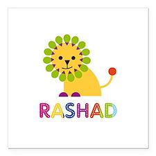 """Rashad Loves Lions Square Car Magnet 3"""" x 3"""""""