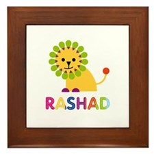 Rashad Loves Lions Framed Tile