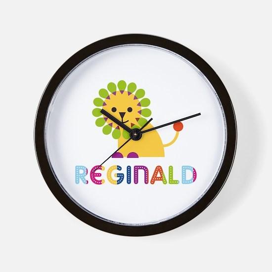 Reginald Loves Lions Wall Clock