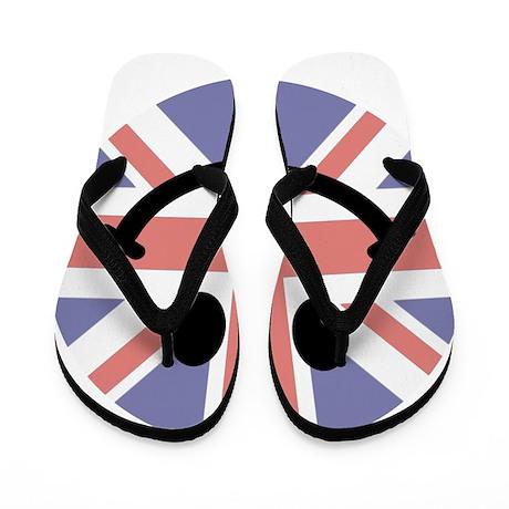 British Flag Smiley face Flip Flops