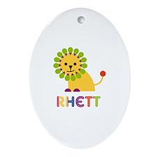 Rhett Loves Lions Ornament (Oval)