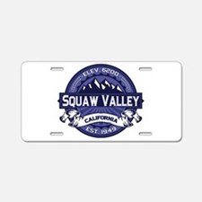 Squaw Valley Midnight Aluminum License Plate