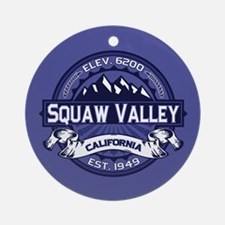Squaw Valley Midnight Ornament (Round)