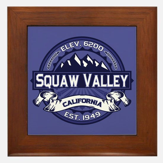 Squaw Valley Midnight Framed Tile