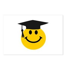 Graduate smiley face Postcards (Package of 8)
