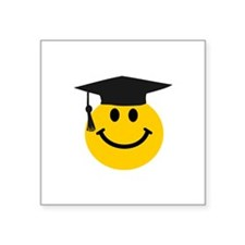 Graduate smiley face Sticker