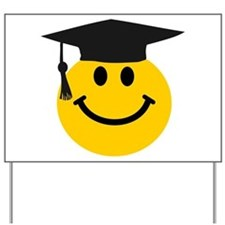 Graduate smiley face Yard Sign