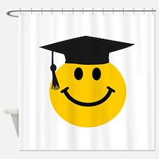Graduate smiley face Shower Curtain