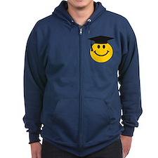 Graduate smiley face Zip Hoody