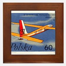 Vintage 1968 Poland Glider Airplane Postage Stamp