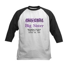 Only Child - Big Sister - Personalized! Baseball J