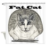 Fat Cat Shower Curtain