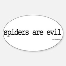 spiders are evil Decal