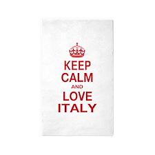 Keep Calm and Love Italy 3'x5' Area Rug