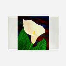 Calla Lilly Rectangle Magnet