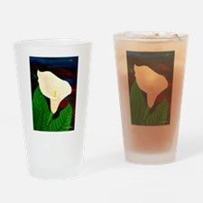 Calla Lilly Drinking Glass