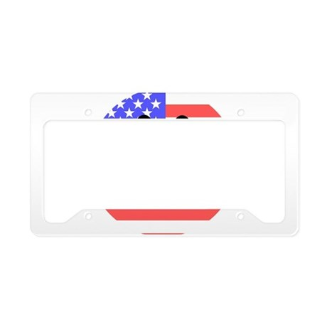 American Flag Smiley Face License Plate Holder