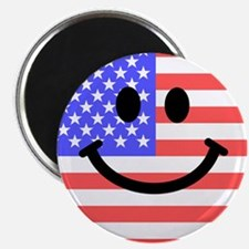 "American Flag Smiley Face 2.25"" Magnet (10 pack)"