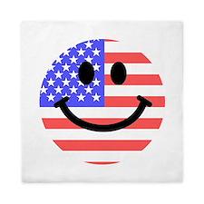American Flag Smiley Face Queen Duvet