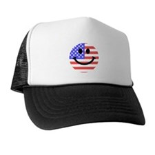 American Flag Smiley Face Hat