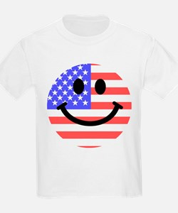 American Flag Smiley Face T-Shirt