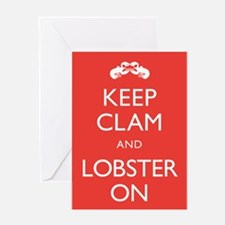 Keep Clam and Lobster On Greeting Card